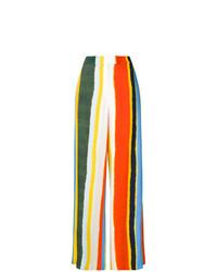 mehrfarbige vertikal gestreifte weite Hose von Tory Burch