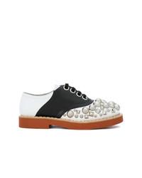 mehrfarbige verzierte Leder Oxford Schuhe von Miu Miu
