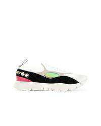 mehrfarbige verzierte niedrige Sneakers von Valentino