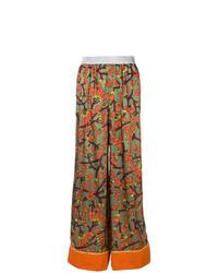 mehrfarbige weite Hose mit Blumenmuster von I'M Isola Marras