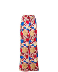mehrfarbige weite Hose mit Blumenmuster von Vivetta
