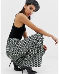 mehrfarbige weite Hose mit geometrischem Muster von Missguided