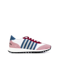 mehrfarbige Wildleder niedrige Sneakers von Dsquared2