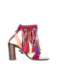 mehrfarbige Wildleder Sandaletten von Chloé