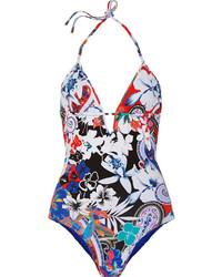 mehrfarbiger Badeanzug mit Blumenmuster von Etro