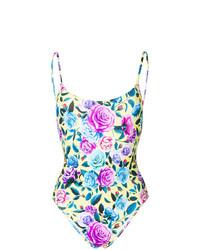 mehrfarbiger Badeanzug mit Blumenmuster von MC2 Saint Barth