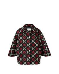 mehrfarbiger bedruckter Cape Mantel von Gucci