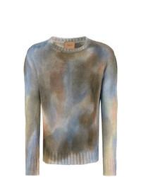 mehrfarbiger bedruckter Pullover mit einem Rundhalsausschnitt