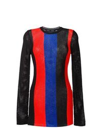 mehrfarbiger bedruckter Pullover mit einem Rundhalsausschnitt von Proenza Schouler