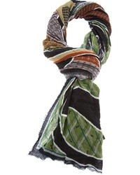mehrfarbiger bedruckter Schal von Faliero Sarti