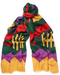 mehrfarbiger bedruckter Schal