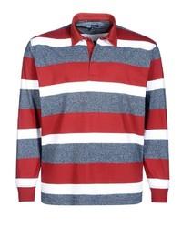 mehrfarbiger horizontal gestreifter Polo Pullover von Big fashion