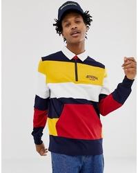 mehrfarbiger horizontal gestreifter Polo Pullover von Billionaire Boys Club