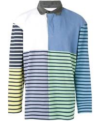 mehrfarbiger horizontal gestreifter Polo Pullover von JW Anderson