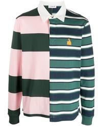 mehrfarbiger horizontal gestreifter Polo Pullover von Lanvin