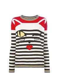 mehrfarbiger horizontal gestreifter Pullover mit einem Rundhalsausschnitt von Ermanno Scervino