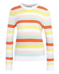 mehrfarbiger horizontal gestreifter Pullover mit einem Rundhalsausschnitt von Rebecca Minkoff