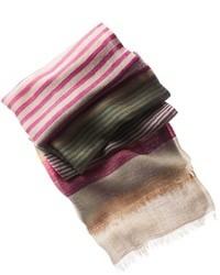 mehrfarbiger horizontal gestreifter Schal