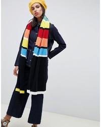 mehrfarbiger horizontal gestreifter Schal von ASOS DESIGN