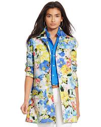 mehrfarbiger Mantel mit Blumenmuster