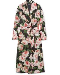 mehrfarbiger Mantel mit Blumenmuster von Dolce & Gabbana
