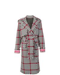 mehrfarbiger Mantel mit Hahnentritt-Muster von MSGM