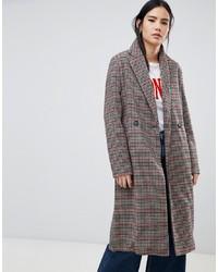 mehrfarbiger Mantel mit Karomuster