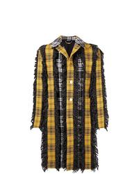 mehrfarbiger Mantel mit Schottenmuster