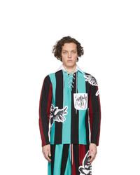 mehrfarbiger Polo Pullover von Charles Jeffrey Loverboy