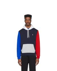 mehrfarbiger Pullover mit einem Kapuze von Polo Ralph Lauren