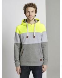 mehrfarbiger Pullover mit einem Kapuze von Tom Tailor