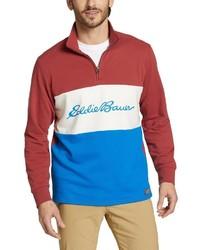 mehrfarbiger Pullover mit einem Reißverschluss am Kragen von Eddie Bauer