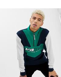 mehrfarbiger Pullover mit einem Reißverschluss am Kragen von Vans