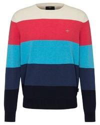 mehrfarbiger Pullover mit einem Rundhalsausschnitt von Fynch Hatton