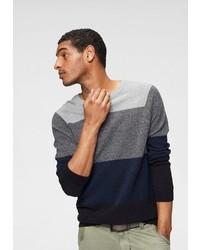 mehrfarbiger Pullover mit einem Rundhalsausschnitt von John Devin