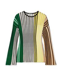 mehrfarbiger Pullover mit einem Rundhalsausschnitt von Kenzo
