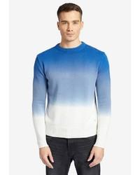 mehrfarbiger Pullover mit einem Rundhalsausschnitt von khujo
