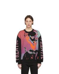 mehrfarbiger Pullover mit einem Rundhalsausschnitt von McQ Alexander McQueen