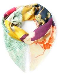 mehrfarbiger Schal mit Blumenmuster von Alexander McQueen