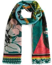 mehrfarbiger Schal mit Blumenmuster von Etro