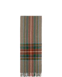 mehrfarbiger Schal mit Karomuster von Gucci