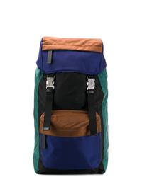 mehrfarbiger Segeltuch Rucksack