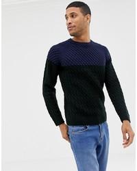mehrfarbiger Strickpullover von Burton Menswear