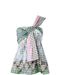 mehrfarbiges ärmelloses Oberteil mit Vichy-Muster von Peter Pilotto
