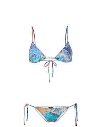 mehrfarbiges bedrucktes Bikinioberteil von Etro