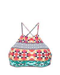 mehrfarbiges bedrucktes Bikinioberteil von Lygia & Nanny