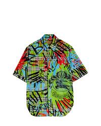 mehrfarbiges bedrucktes Kurzarmhemd von Burberry