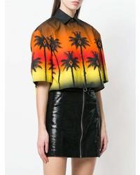 mehrfarbiges bedrucktes Kurzarmhemd von Marcelo Burlon County of Milan