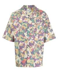 mehrfarbiges bedrucktes Kurzarmhemd von Kenzo