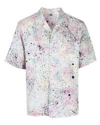 mehrfarbiges bedrucktes Kurzarmhemd von McQ